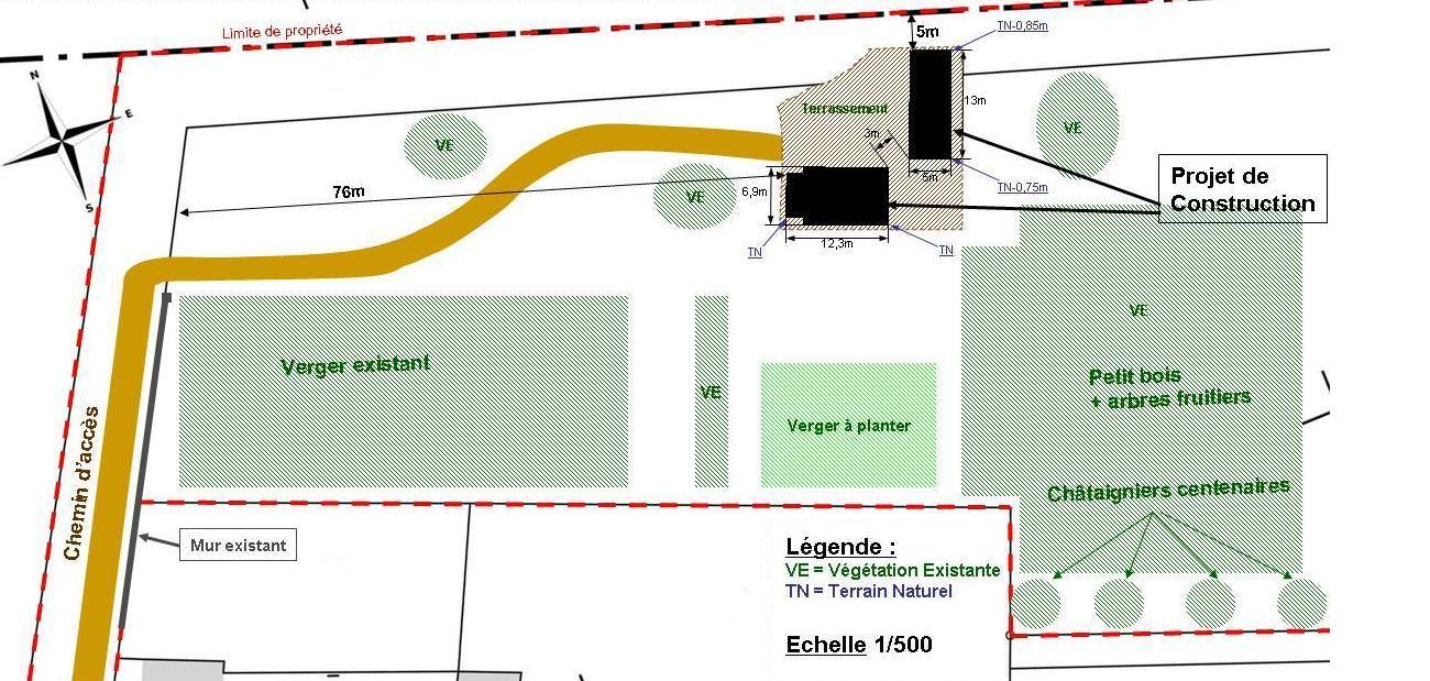 Administratif maison poyaudine for Plan de coupe terrain