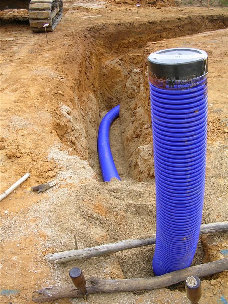 Le puits canadien maison poyaudine - Tuyau pour puit canadien ...