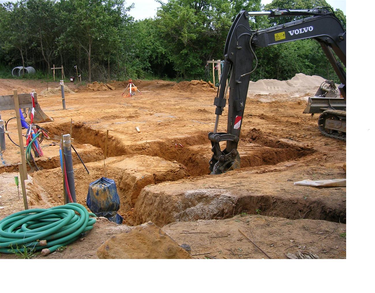 D but des fondations conception et fouilles maison for Prise de terre fond de fouille