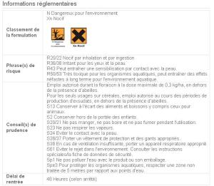 Extrait de la notice Syngenta Karate Xpress