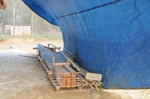 Stockage des barres d'ossature