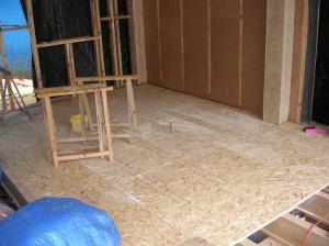 Le plancher du salon est terminé