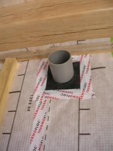 Manchette d'étanchéité pour le conduit d'extraction d'air (diam. 100mm)