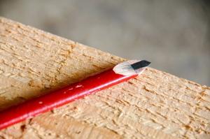 Crayon taillé pour le piquage