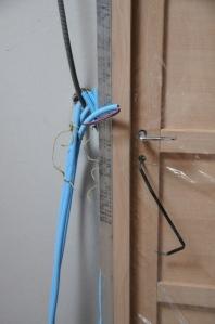 Lignes électriques remontant dans une cloison (interrupteur lumière)