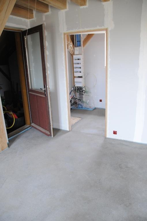 Chape b ton sur plancher bois maison poyaudine for Beton allege sur plancher bois