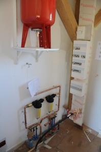 L'installation de plomberie, en cours de réalisation...
