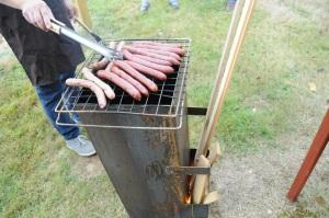 Le barbecue rocket en action